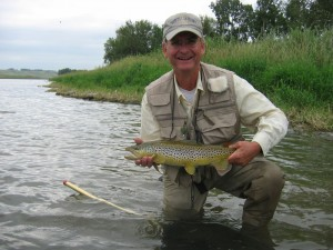 Jim with a trout.