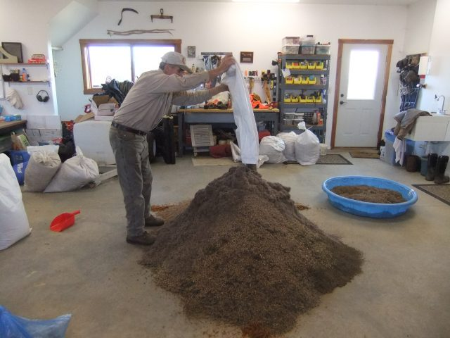 Creating the base mix for the dry and dry mesic areas