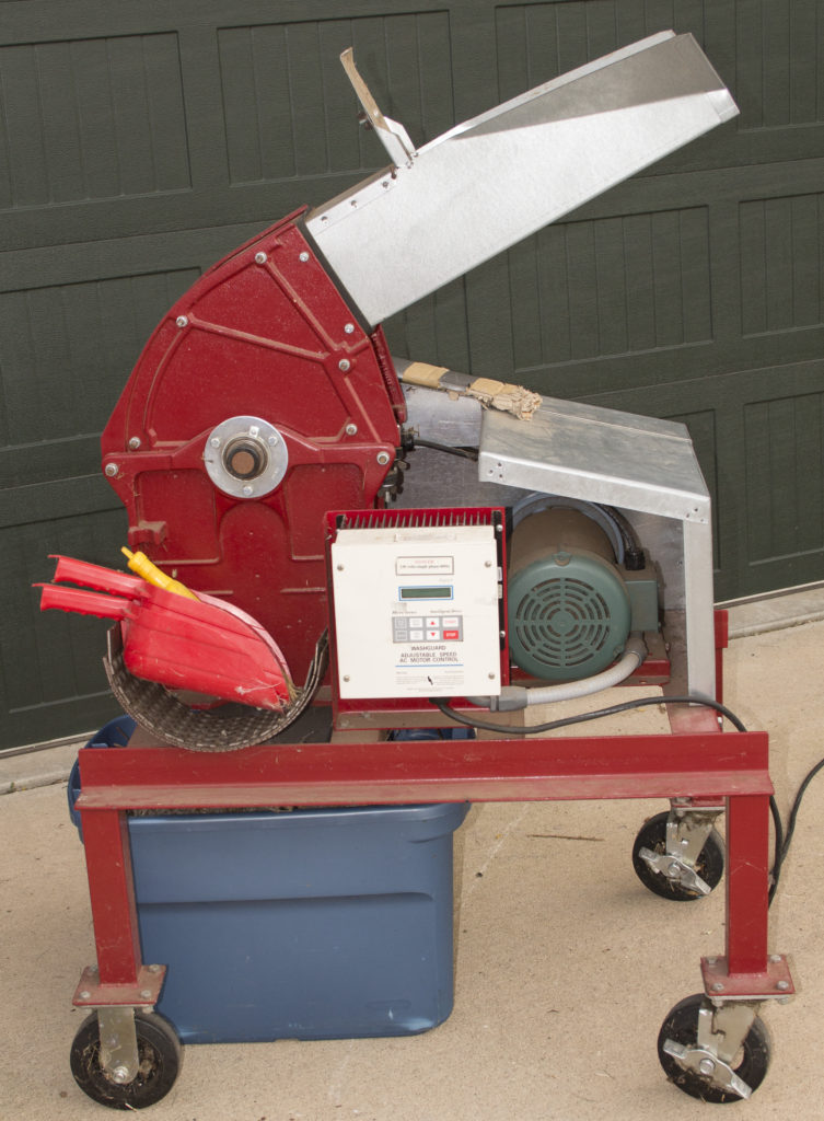 The hammermill is used for breaking up native seeds.